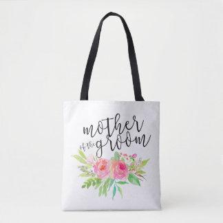 Tote Bag mère du rose de marié floral