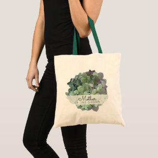 Tote Bag Mère florale verte de mariage du marié