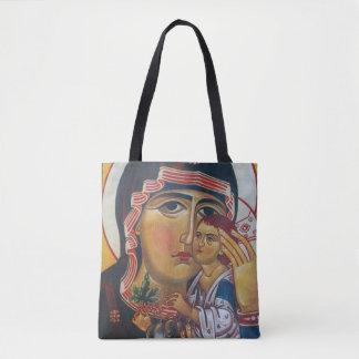 Tote Bag Mère Mary et art de Jésus