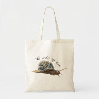 Tote Bag Mettez à la terre l'escargot Fourre-tout - ma