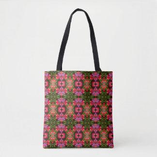 Tote Bag Milieu du motif de fleur de kaléidoscope 36