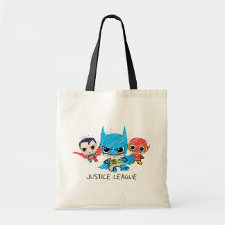 Tote Bag Mini croquis de ligue de justice