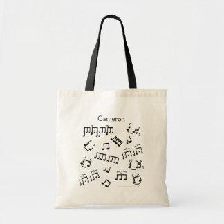 Tote Bag Mise en tambour des notes musicales de tambour de