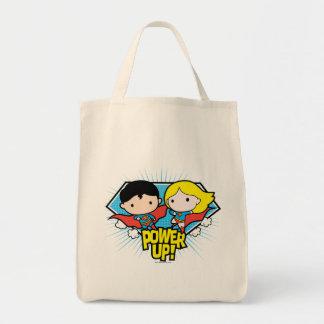 Tote Bag Mise sous tension de Chibi Superman et de Chibi