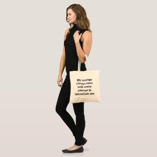 Tote Bag Mon courage monte toujours Jane Austen Fourre-tout