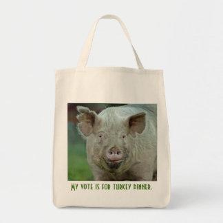 Tote Bag Mon vote est pour le dîner de dinde