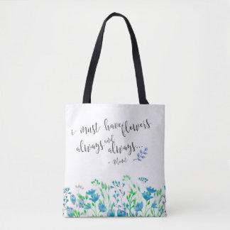 Tote Bag Monet I doit avoir le jardin toujours bleu de