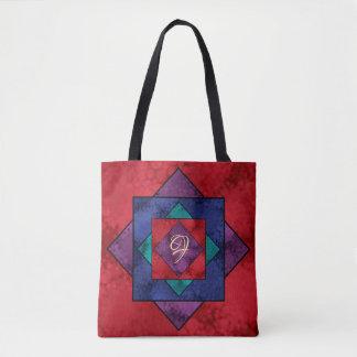 Tote Bag Monogramme carré d'édredon