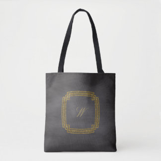 Tote Bag Monogramme carré simple sur le tableau