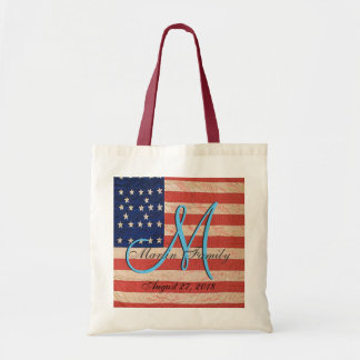 Tote Bag Monogramme d'Américain de la Réunion de famille