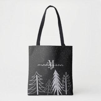 Tote Bag Monogramme d'arbres de Milou de tableau