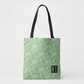 Tote Bag Monogramme du motif | de crocodile de croquis