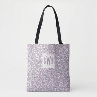 Tote Bag Monogramme fait sur commande botanique de