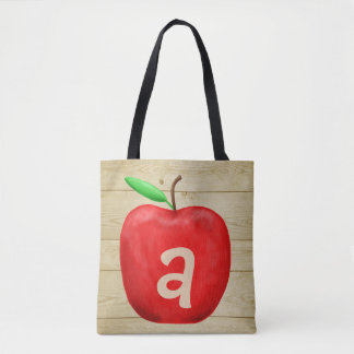 Tote Bag Monogramme rouge d'Apple