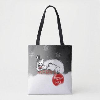 Tote Bag Monsieur Cat montre vos souhaits de Noël !