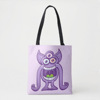 Tote Bag monstre étranger Trois-eyed riant malfaisant