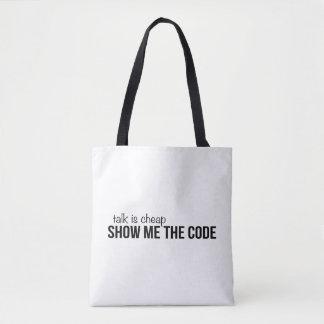 Tote Bag Montrez-moi le code