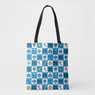 Tote Bag Mosaïque de M. Bump | dans le motif bleu