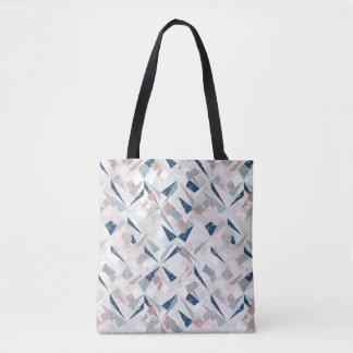 Tote Bag Motif abstrait d'hiver de miroitement