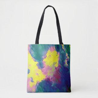 Tote Bag Motif abstrait multicolore de fête vibrant