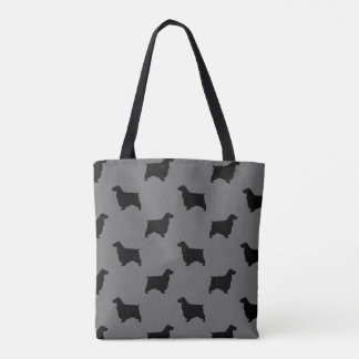 Tote Bag Motif anglais de silhouettes de cocker