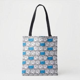 Tote Bag Motif bleu de M. Bump |
