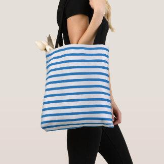 Tote Bag Motif bleu et blanc de rayure