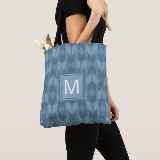 Tote Bag Motif bleu extérieur de flèche d'étape | de Geo