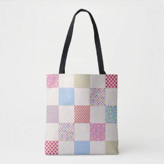 Tote Bag Motif coloré d'édredon de patchwork