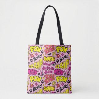 Tote Bag Motif comique d'expressions et de logos de Chibi