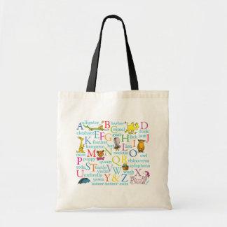 Tote Bag Motif d'ABC de Dr. Seuss's avec des mots