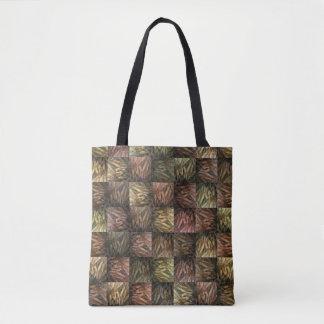 Tote Bag Motif d'art de bloc d'abrégé sur blé,