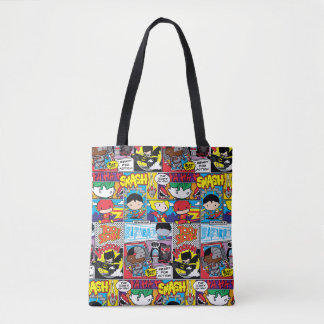 Tote Bag Motif de bande dessinée de ligue de justice de