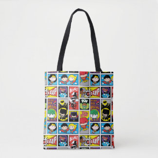 Tote Bag Motif de compilation de ligue de justice de Chibi