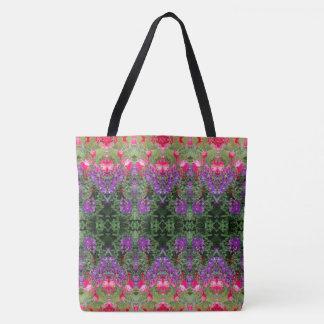 Tote Bag Motif de fleur de kaléidoscope 19 GRAND