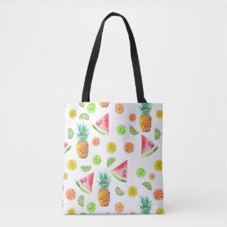 Tote Bag Motif de fruit glacé d'aquarelle