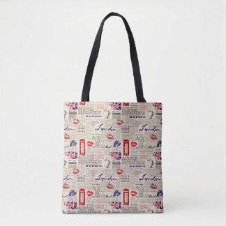 Tote Bag Motif de journal de Londres