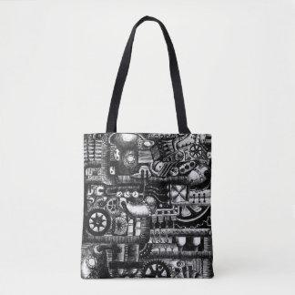 Tote Bag motif de mécanisme de bande dessinée de machines