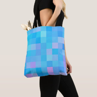 Tote Bag Motif de mosaïque abstrait multicolore