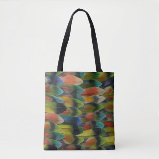 Tote Bag Motif de plume de queue de perruche