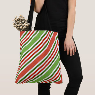 Tote Bag Motif de rayure de couleur de Noël