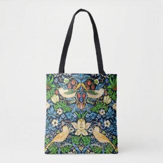 Tote Bag Motif de tapisserie d'oiseau et de fleur de