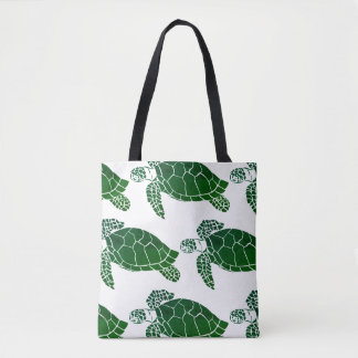 Tote Bag Motif de tortue de mer verte