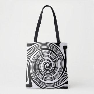 Tote Bag Motif de tourbillonnement noir et blanc
