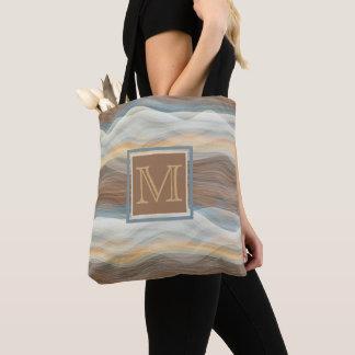 Tote Bag Motif de vagues artistique abstrait frais de