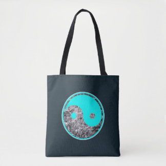 Tote Bag motif de Yin-Yang d'aqua sur l'eau de ondulation