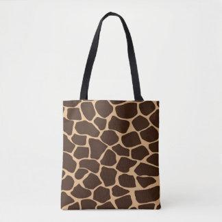 Tote Bag Motif d'impression de girafe