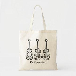 Tote Bag Motif élégant de violon