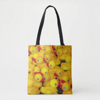 Tote Bag Motif en caoutchouc jaune mignon de duckies