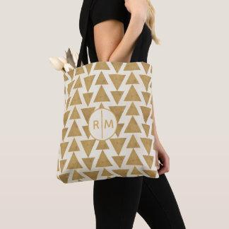 Tote Bag Motif géométrique de Geo d'or extérieur d'étape |